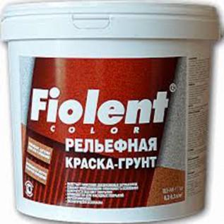 Рельефная краска-грунт Fiolent  7кг